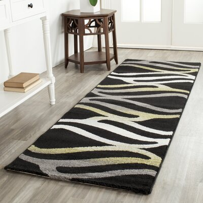 Kenzo Black Area Rug Rug Size: Rectangle 27 x 5
