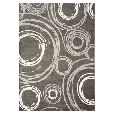 Kenzo Dark Gray Area Rug Rug Size: Rectangle 4 x 57