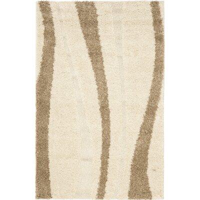 Drennen Creme & Beige Area Rug Rug Size: Rectangle 4 x 6