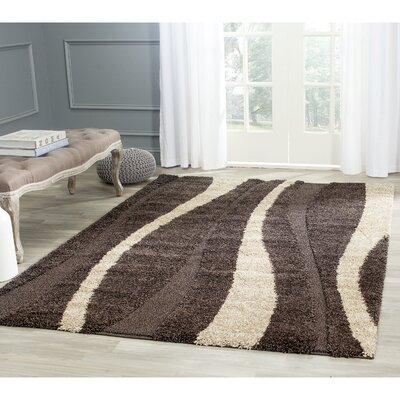 Mika Brown Area Rug Rug Size: 53 x 76