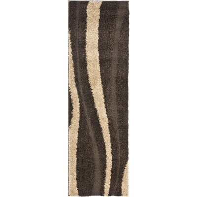Mika Brown Area Rug Rug Size: Runner 23 x 9