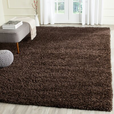 Rowen Brown Area Rug Rug Size: Square 4