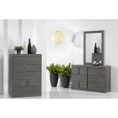 Yusuf 6 Drawer Dresser with Mirror