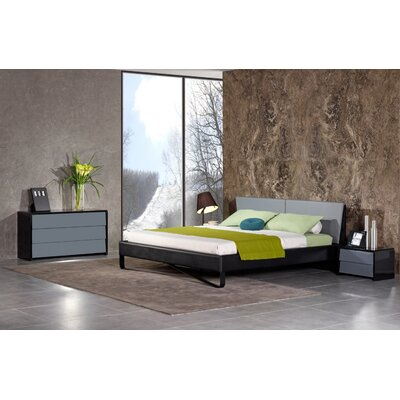Selim King Upholstered Platform Bed