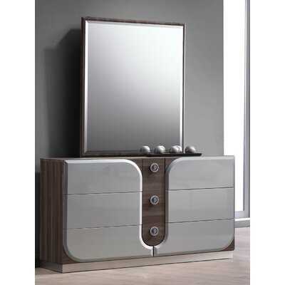 Anshul 6 Drawer Dresser with Mirror