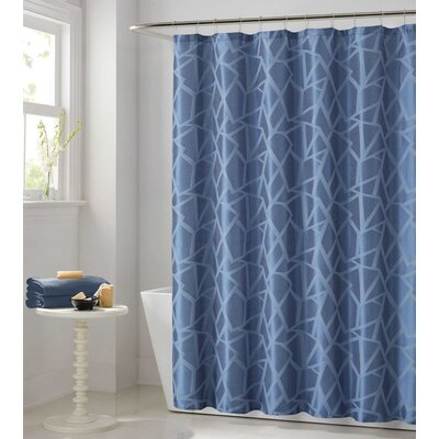 Vivaan Shower Curtain Color: Blue