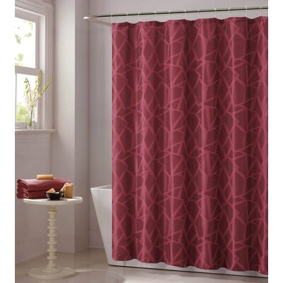Vivaan Shower Curtain Color: Burgundy