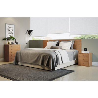 Boulton 2 Piece Bedroom Dresser and Nightstand Set Color: Maple Cream