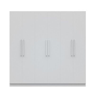 Lucca Wardrobe Armoire Color: White