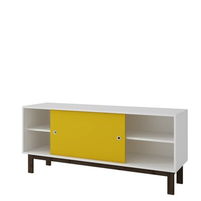 Bresnahan 53 TV Stand Color: White/Yellow