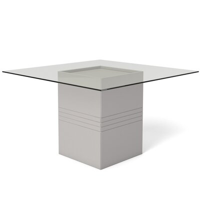 Bourgeois Square Dining Table Finish: Off-White