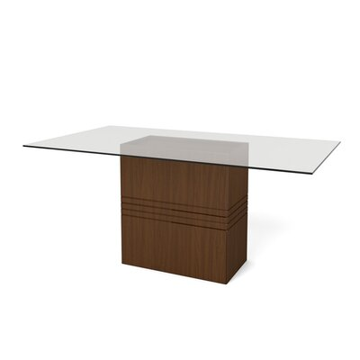 Bourgeois Dining Table Finish: Nut Brown