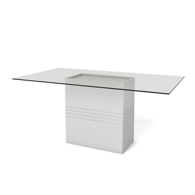 Bourgeois Dining Table Finish: White Gloss