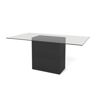 Mac Dining Table Finish: Black Gloss