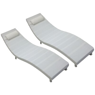 Major Double Chaise Lounge Fabric: White
