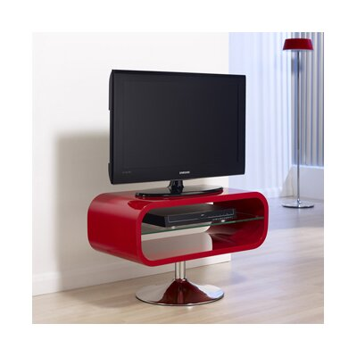 Dundee TV Stand Finish: Red with Chrome Base