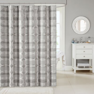 Landon Shower Curtain Color: Neutral