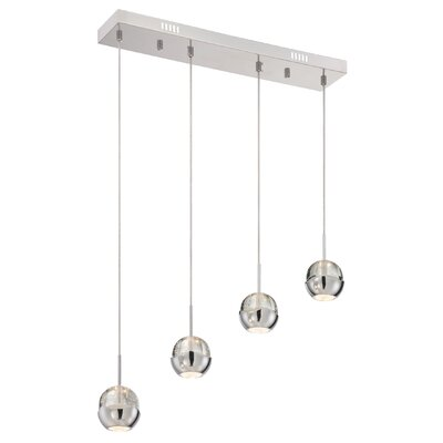 Cassandrea 4-Light Chrome Mini Pendant