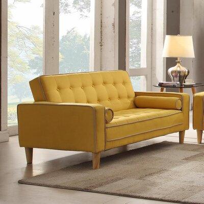 Navi Twill Loveseat Upholstery: Yellow