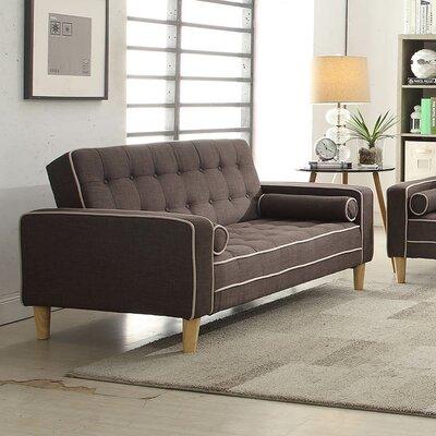 Navi Twill Loveseat Upholstery: Gray