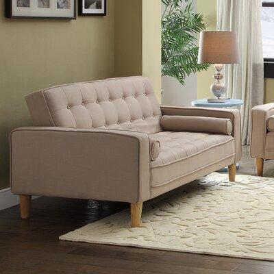 Navi Twill Loveseat Upholstery: Tan