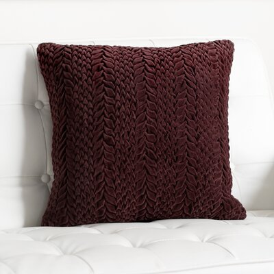 Stoney Littleton 100% Cotton Throw Pillow Size: 22 H x 18 W, Color: Aubergine, Filler: Down