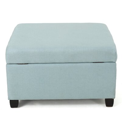 Corben Fabric Ottoman Finish: Light Blue