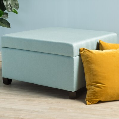 Corben Storage Ottoman Finish: Light Blue