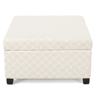 Corben Fabric Ottoman Finish: Ivory