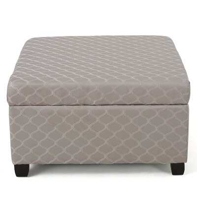 Corben Fabric Ottoman Finish: Gray