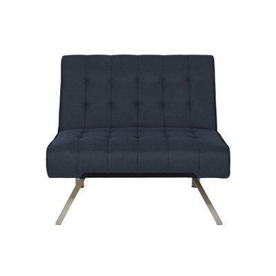 Littrell Convertible Chair Upholstery: Navy