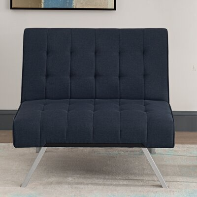 Littrell Convertible Chair Upholstery: Navy