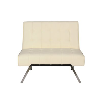 Littrell Convertible Chair Upholstery: Vanilla