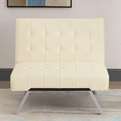 Littrell Convertible Chair Upholstery: Vanilla
