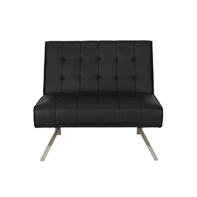 Littrell Convertible Chair Upholstery: Black
