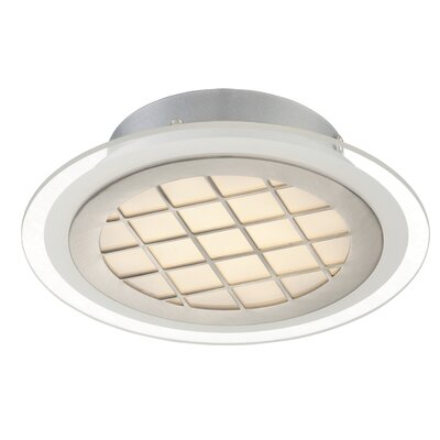 Thuong 1-Light Semi Flush Mount Size: 8.75 H x 2.25 W x 2.25 D