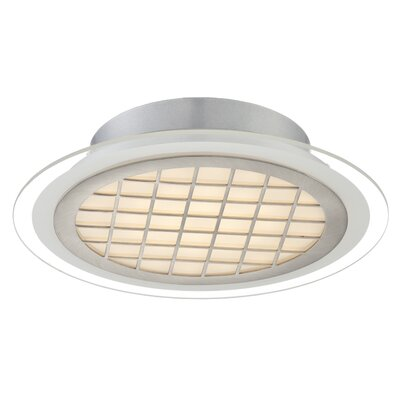 Thuong 1-Light Semi Flush Mount Size: 11.75 H x 3 W x 3 D