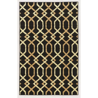 Grays Black Area Rug