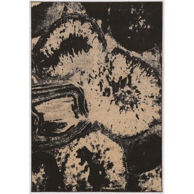 Wolfsburg Brown/Black Area Rug Rug Size: 2 x 3