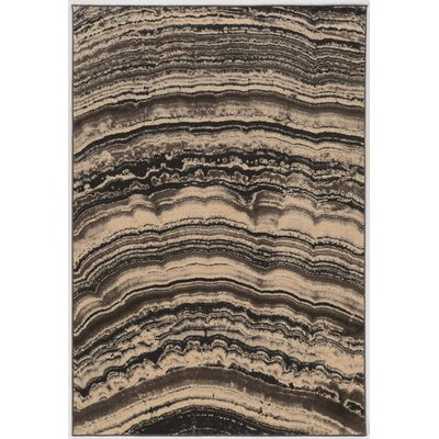 Wolfsburg Beige/Black Area Rug Rug Size: Rectangle 2 x 3
