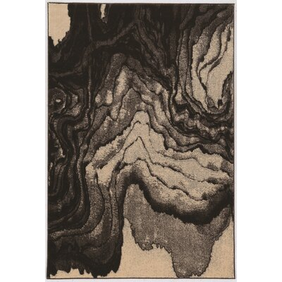 Wolfsburg Beige/Black Area Rug Rug Size: Rectangle 8 x 103