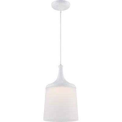 Pontus 1-Light Pendant Color: Frosted Glass