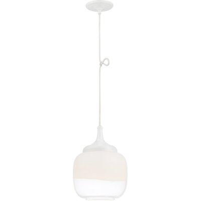 Libra 1-Light Mini Pendant Finish: White