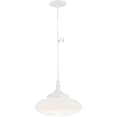 Libra Transitional 1-Light Mini Pendant Finish: White