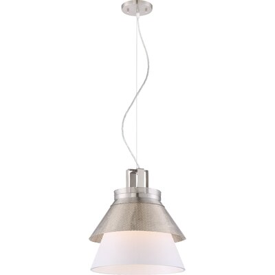 Ophiuchus 1-Light Glass Shade Mini Pendant Finish: Brushed Nickel