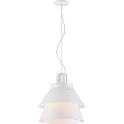 Ophiuchus 1-Light Glass Shade Mini Pendant Finish: White