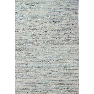 Baileyville Hand-Woven Light Blue Area Rug Rug Size: 59 x 89