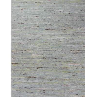 Deadra Hand-Woven Grey/Gold Area Rug Rug Size: 76 x 96
