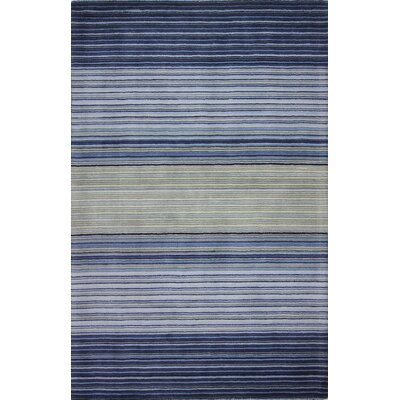 Lomita Hand-Woven Blue Area Rug Rug Size: 76 x 96