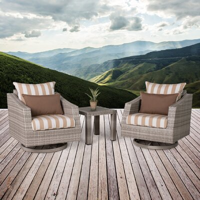 Greenfield Deluxe 3 Piece Deep Seating Group Fabric: Maxim Beige